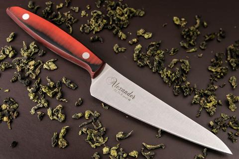 Кухонный нож Alexander M AUS-8 Red G10