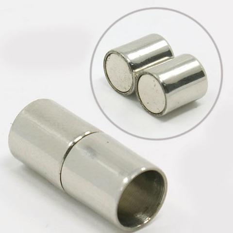Замок для бус магнитный  18х9 мм (для вклейки) ювелирная сталь