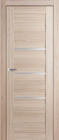 Дверь GreenLine X-31, стекло белое, цвет капучино, остекленная