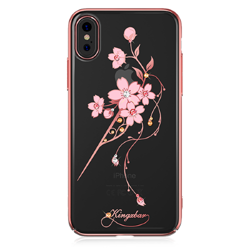 Чехол с Swarovski Kingxbar Exquisite Series для iPhone X розовый