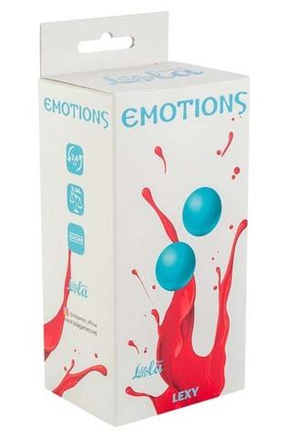 Вагинальные шарики без сцепки Emotions Lexy Small turquoise (2,4 см; 68 гр)