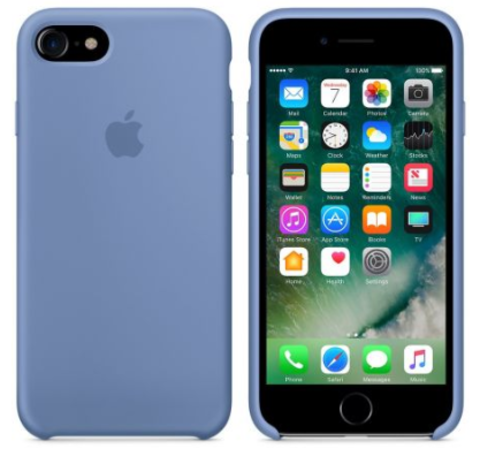 iPhone 7/8 Silicone Case  Cветло Cиний