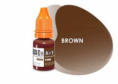 Brown (средне-коричневый нейтральный) • Wizart Strong • пигмент для бровей