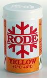Мазь лыжная Rode P60 желтая (+1/+4) 45гр