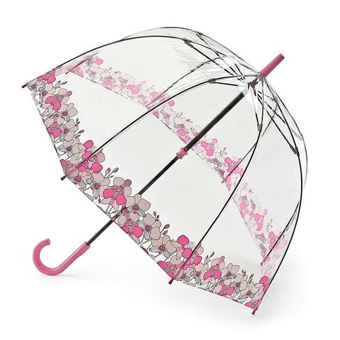 Fulton Orchid Fayre прозрачный зонт-трость