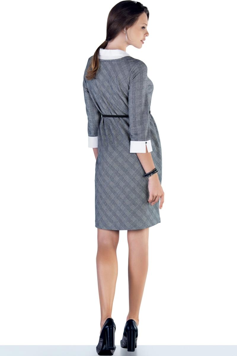 Платье 09889 клетка