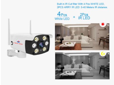 Улица -помещение CAICO TECH CCTV S-342I 2 Mpix WI-FI IP камера карта памяти аудио канал ИК-прожектор + Белый свет
