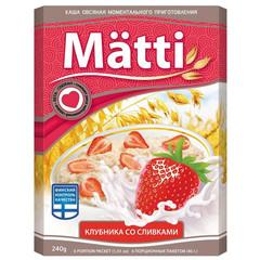 Каша Matti Клубника со сливками 6шт*40г