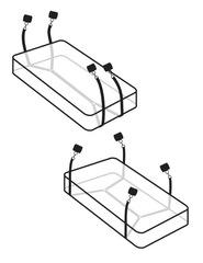 Бондаж для секс игр, фиксаторы к кровати Wraparound Mattress Restraints