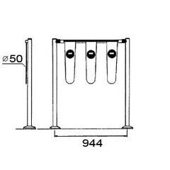 SW.030.000 Ворота для тележек (4 флажка)