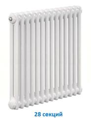 Радиатор Zehnder Charleston 2056 - 28 секций боковое подключение №1270, 3/4