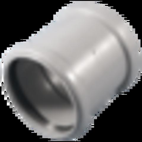 Муфта PP-H двухраструбная серая Дн 110 б/нап в/к VALFEX 20106110