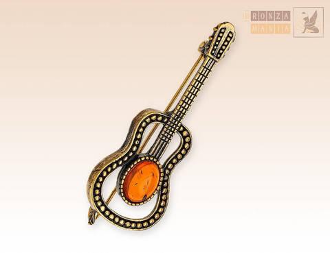 Брошь Гитара классическая