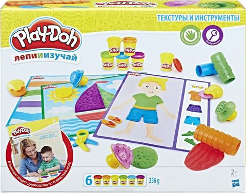 Play-Doh Набор для лепки Текстуры и Инструменты