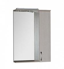 Зеркало-шкаф Aquanet Донна 60 белый дуб, светильник-розетка