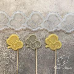 Молд Мышонок сонный для леденцов на палочке, шоколада, изомальта, для пряника, мастики, печенья