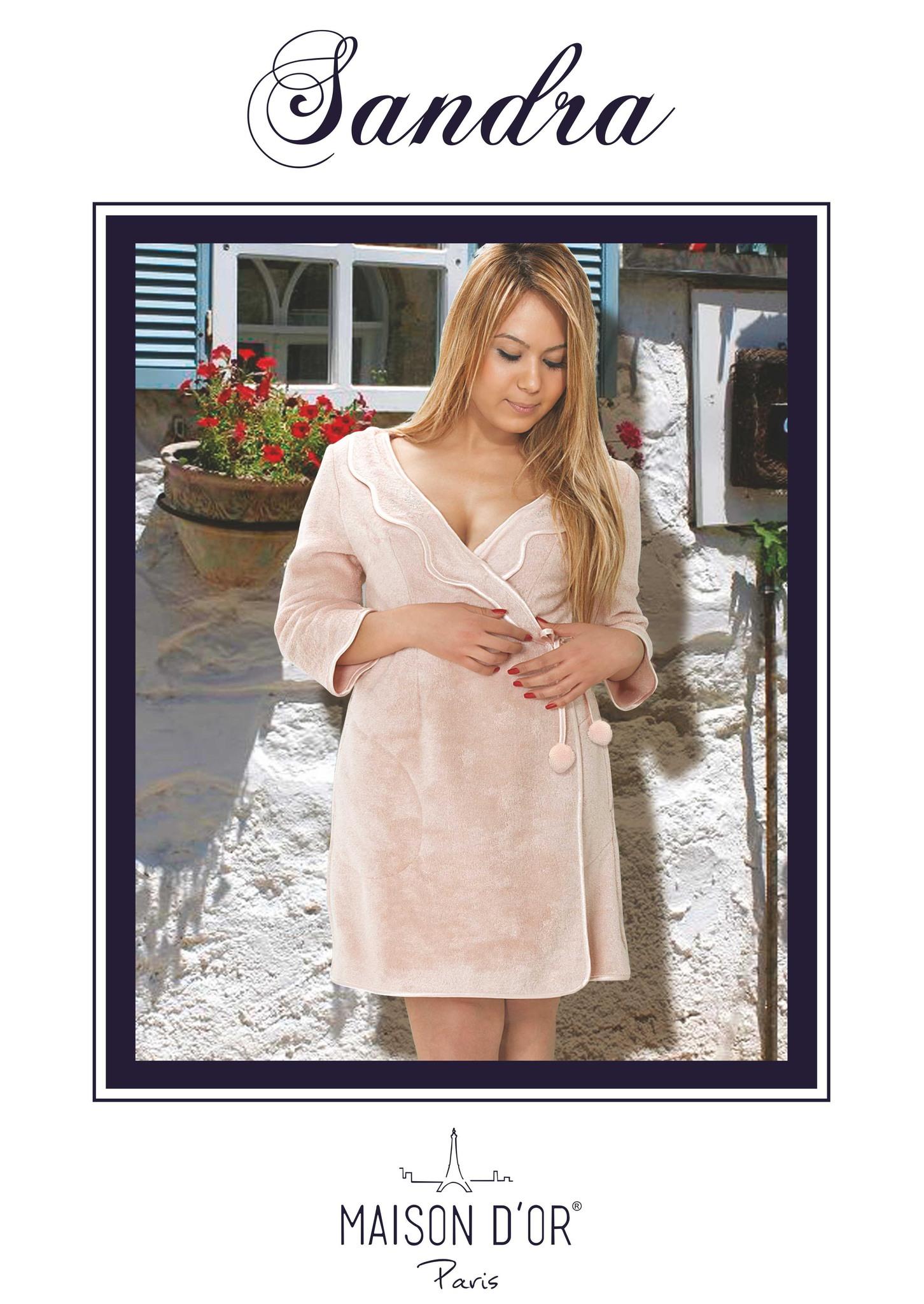 Махровые халаты SANDRA САНДРА женский  бамбуковый халат Maison Dor Турция Sandra-K.jpg