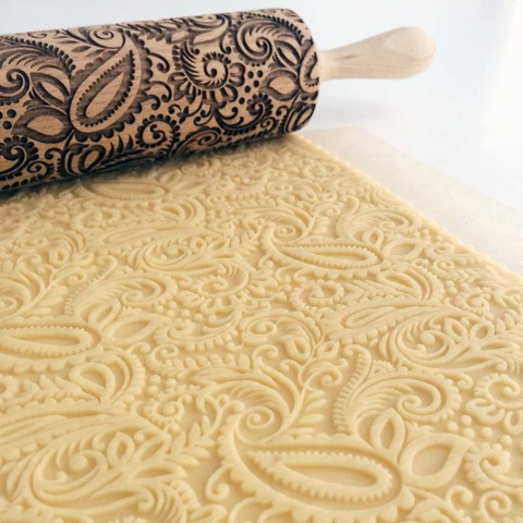 PAISLEY - engraved rolling pin