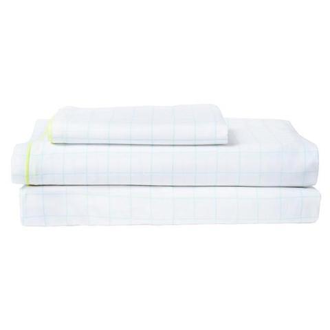 Комплект постельного белья в мятную клетку, евро
