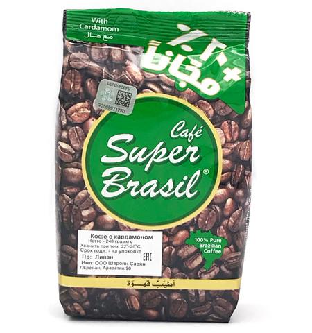 Арабский кофе молотый с кардамоном, Super Brasil, 240 г