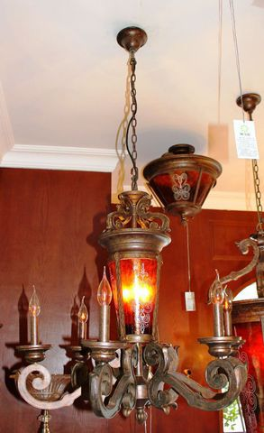 vintage chandelier 40-02  ( by Funky Vintage )