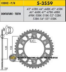 Звезда задняя ведомая Sunstar Rear Sproket 5-3559-46 для мотоцикла Honda