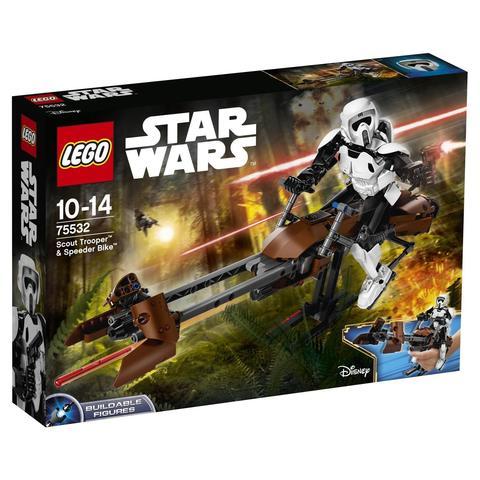 LEGO Star Wars: Штурмовик-разведчик на спидере 75532 — Scout Trooper & Speeder Bike — Лего Звездные войны Стар Ворз