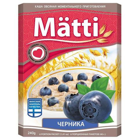 Каша Matti Черника 6шт*40г