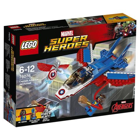 LEGO Super Heroes: Воздушная погоня Капитана Америка 76076 — Captain America Jet Pursuit — Лего Супергерои Марвел