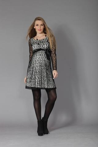 Платье 05979 белый-черный