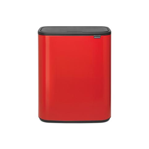 Мусорный бак Touch Bin Bo (2 х 30 л), Пламенно-красный, арт. 221507 - фото 1