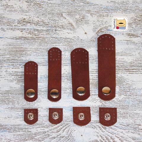 Кнопка кожаная пришивная 24х80мм LKD-24x80 (коричневый)
