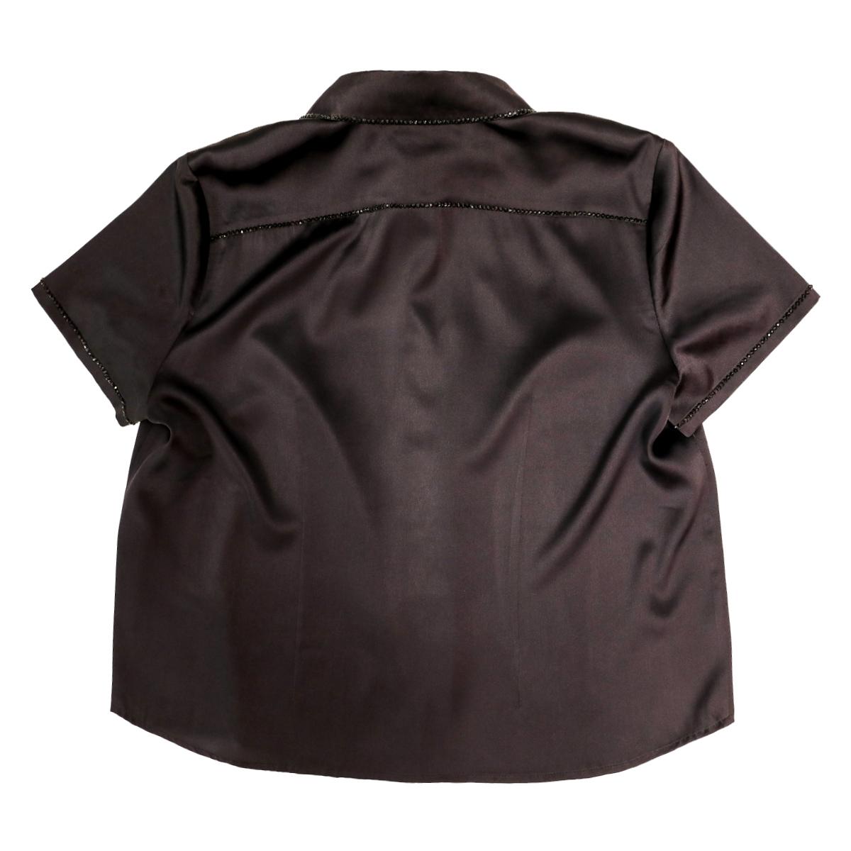 Шелковая рубашка с коротким рукавом