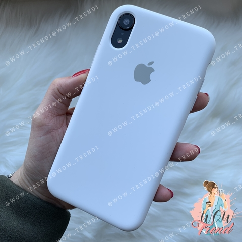 Чехол iPhone XR Silicone Case /white/ белый original quality