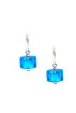 Серьги Perla Piccolo Cubo голубые