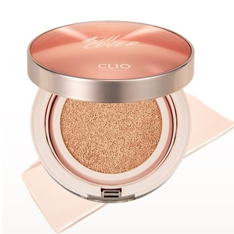 Кушон CLIO Kill Cover Glow Cushion SPF 50+ PA++++ 15g + Refill 15g + Запаска