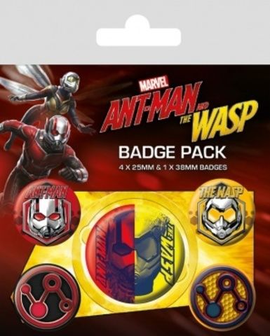 Набор значков Ant-Man and The Wasp