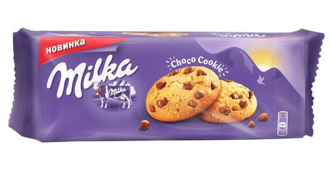 """Печенье """"Milka"""" с молочными кусочками 168г"""