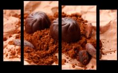 """Модульная картина""""Шоколадное удовольствие"""""""