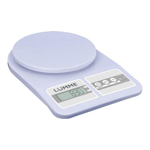Весы кухонные сенсор LUMME LU-1345 светлый аквамарин