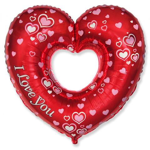 Шар Фигура-Сердце I Love You (80см)