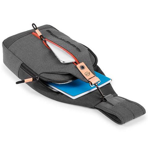 Рюкзак однолямочный Piquadro Blade CA4536BL/GR, gray, фото 6