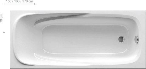 Акриловая ванна Ravak VANDA II 160x70 белая