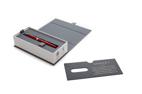 Ручка роллер Parker Sonnet Lacquer Intense Red GT123