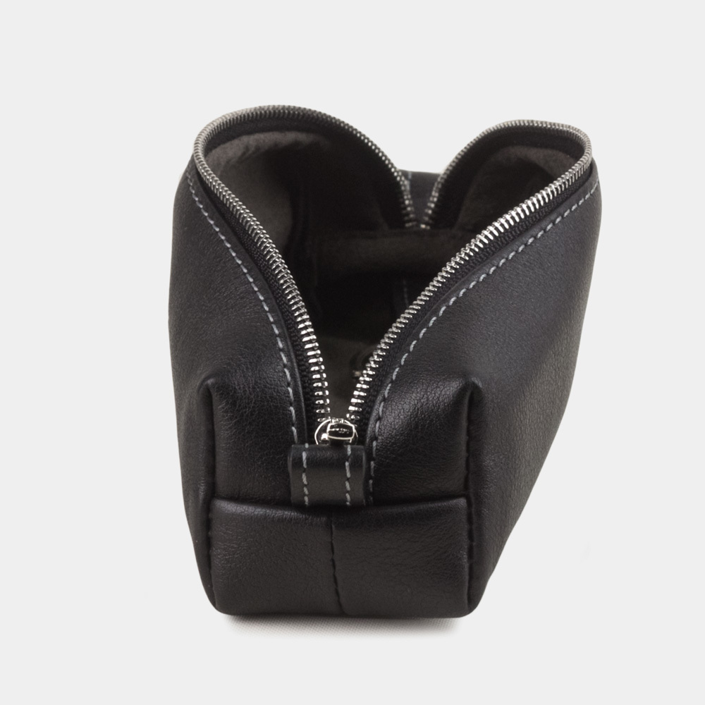 Ключница Cofre Easy из натуральной кожи теленка, черного цвета