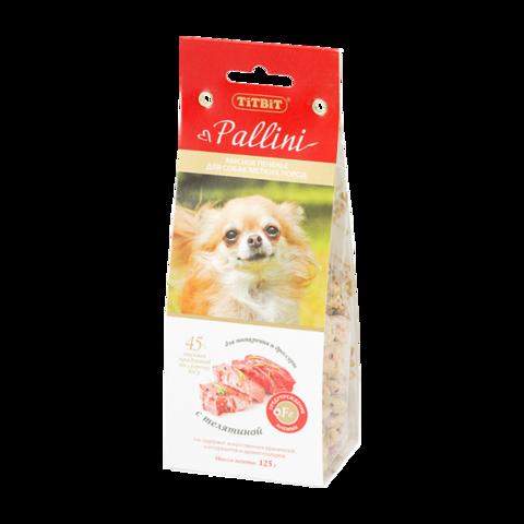 Titbit Pallini Лакомство для собак мелких пород печенье c телятиной