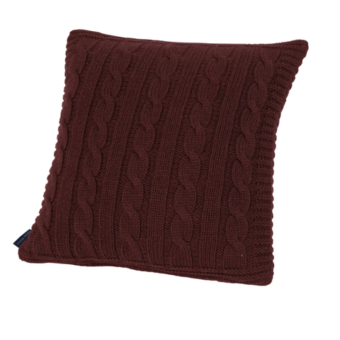 Элитная подушка декоративная Boston темно-красная от Casual Avenue