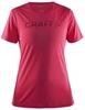 Женская беговая футболка Craft Prime Run Logo 1904342-1411 малиновая