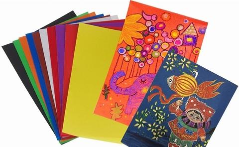 3668 Наждачная бумага для рисования, цветная