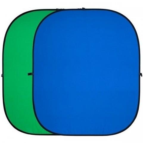 Фон складной FST BP-025 зелёный/синий 100х150
